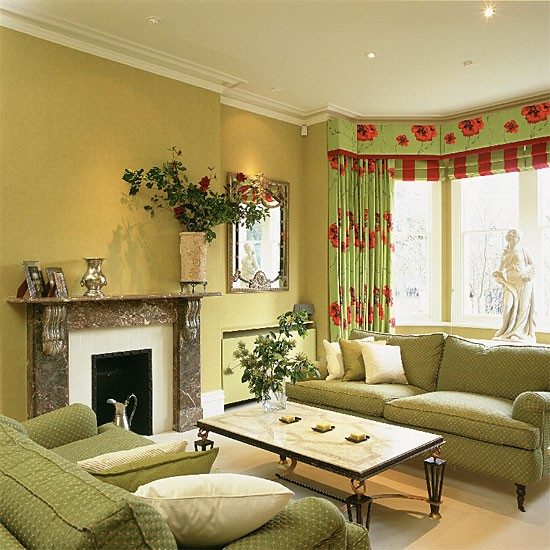 Decorating Idea Living Room: Lime-green Living Room