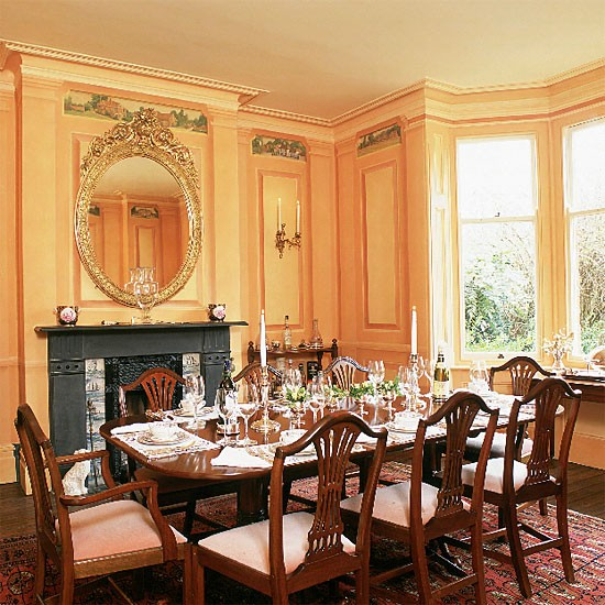 Victorian Room Colors: Formal Victorian Dining Room