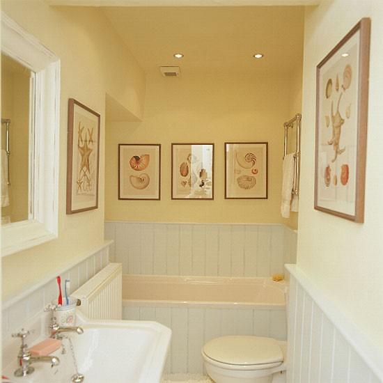 Yellow White Bathroom 2017 Grasscloth Wallpaper