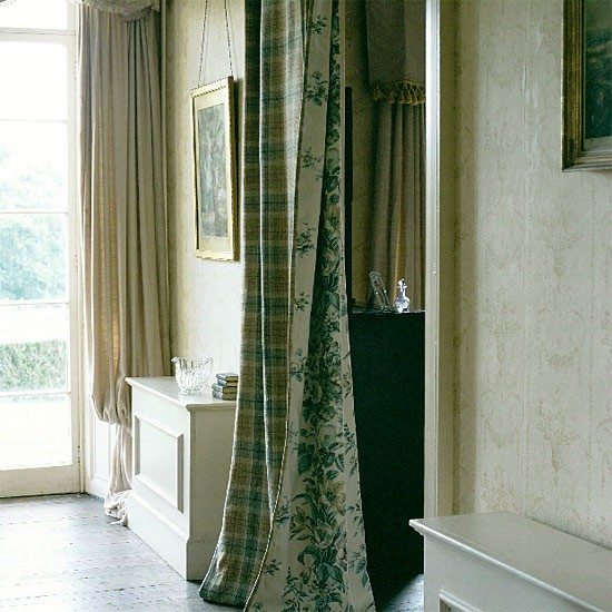 Curtain room divider using colefax fowler fabric - Room divider curtain ideas ...