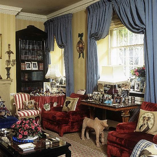 Drapes For Formal Living Room: Colourful Formal Living Room