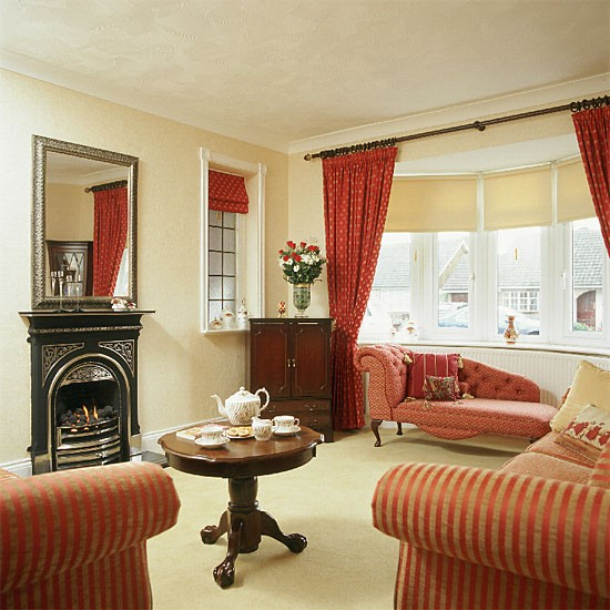 Living Room Ideas Red And Cream