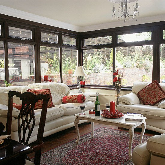 Eclectic Living Room Conservatory