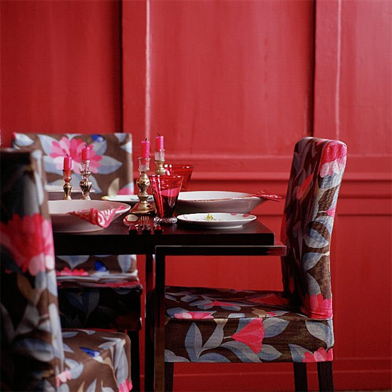 Red Dining Room Furniture: Classic Red Dining Room