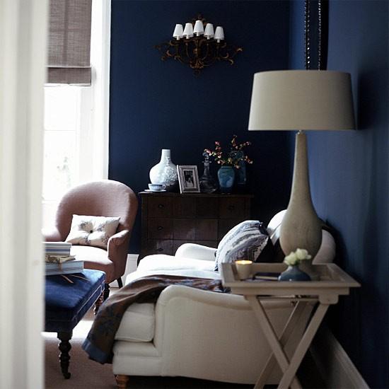 Midnight blue living room | Living room furniture ...