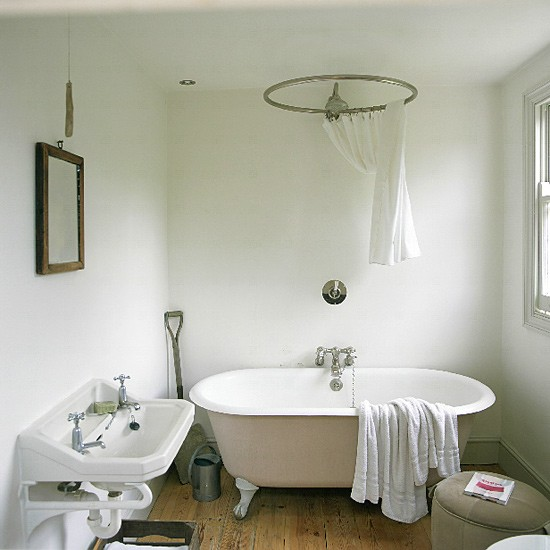 Modern French Bathroom: Freestanding Bath