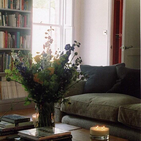 Green Sofa Ideas: Dark Green Sofa Decorating Ideas