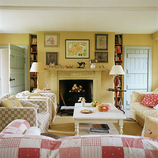 Living Room With Country-style Checks
