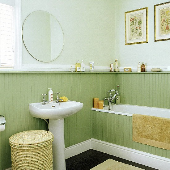 Bathroom With Tongue-and-groove Panelling