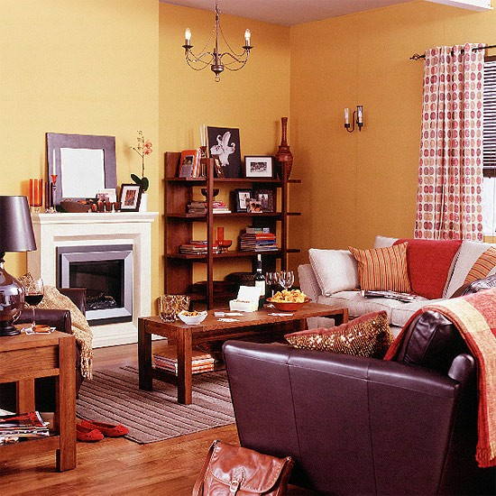 17 Ethnic Living Room Designs Ideas: Living Room With Warm, Ethnic Style