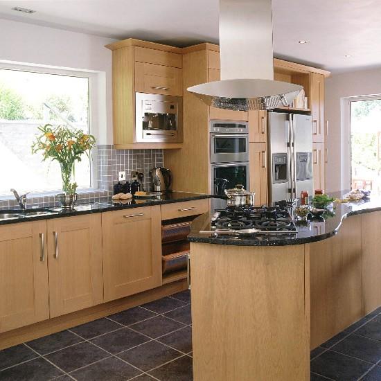 Modern Oak And Steel Kitchen