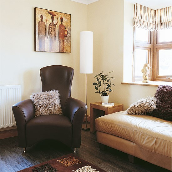 Small Eclectic Living Room Decorating Ideas: Eclectic Cream Living Room