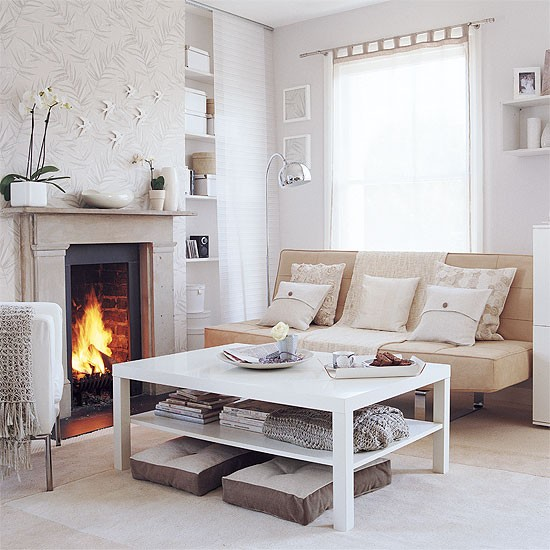 Calming Living Room Shades Of White Housetohome Co Uk