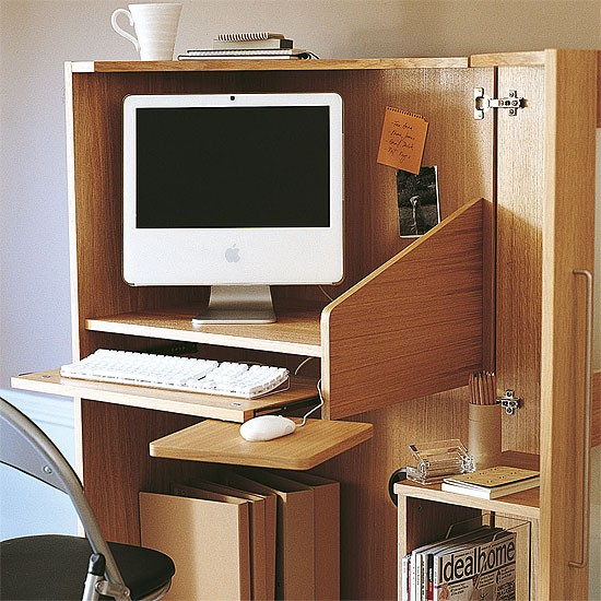 Small Home Office Ideas For Men And Women: Foldaway Home Office