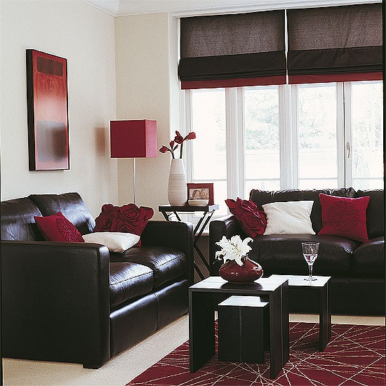 Black Leather Living Room Garden Rose And Peony: Housetohome.co.uk
