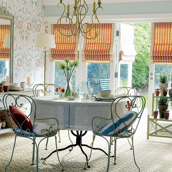 French Style Dining Room: French-style Garden Dining Room