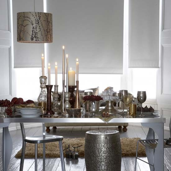 Glitzy Dining Room Dining Room Furniture Decorating