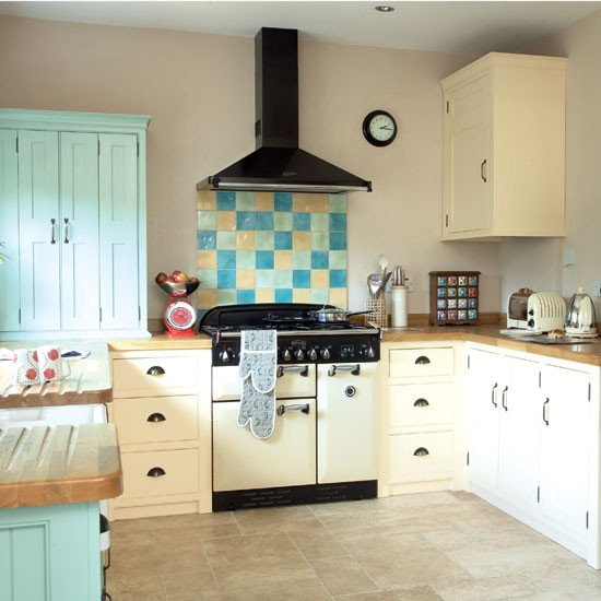Shaker Style Kitchen Ideas: Colourful Shaker-style Kitchen