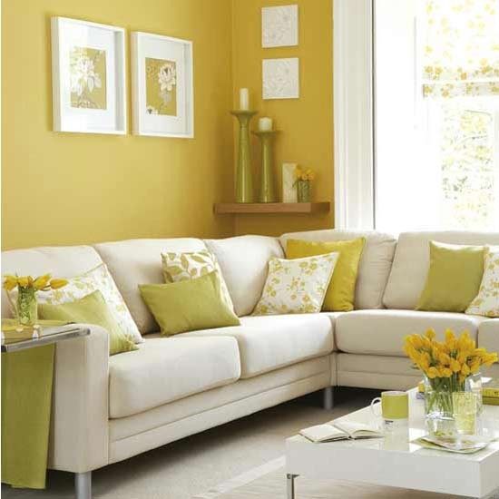 Best Home Decor Websites Uk: Sunny Yellow Living Room