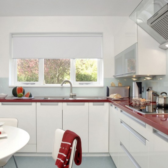 Red and white kitchen | Kitchen design | Decorating ideas ...