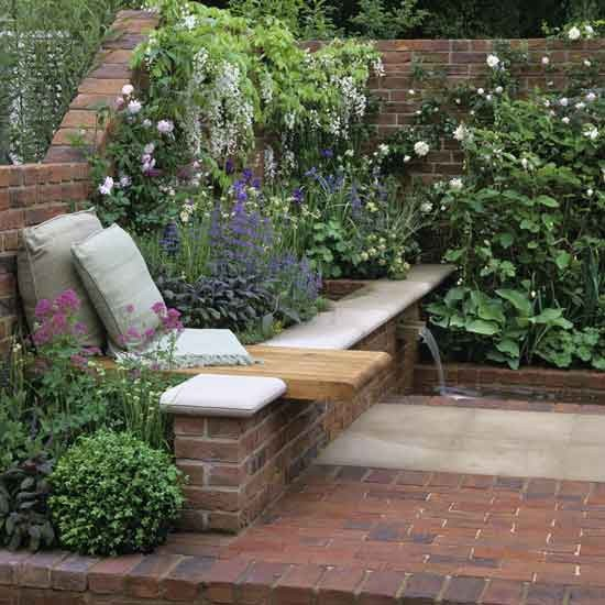 Home Garden Design Ideas: Corner Floral Garden Area