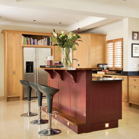 Kitchen With Split-level Island Unit
