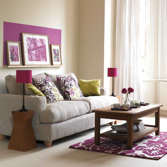Purple Living Room: Living Room With Pruple Accents