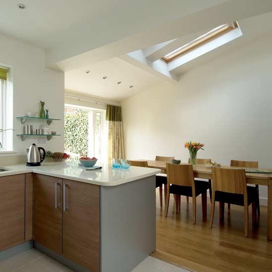 Airy kitchen diner kitchen design decorating ideas - Kitchen diner family room design ideas ...