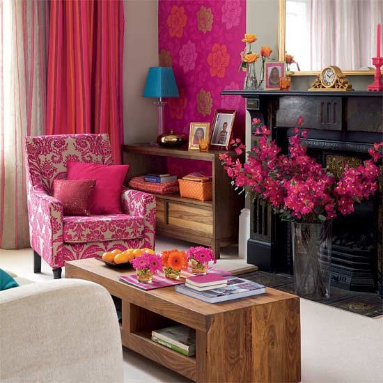 Bright And Colorful Rooms Tropical Style: Bright Tropical-style Living Room