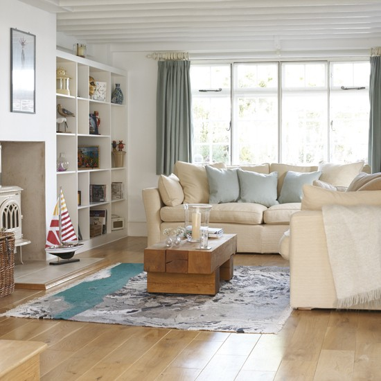 Astonishing Coastal Livingroom Coastal Style Pale Blue Beige Hamptons Living Largest Home Design Picture Inspirations Pitcheantrous