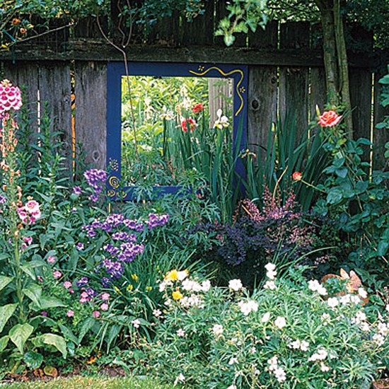 Mirror In Garden: Our House: Garden/Bi Folding Doors
