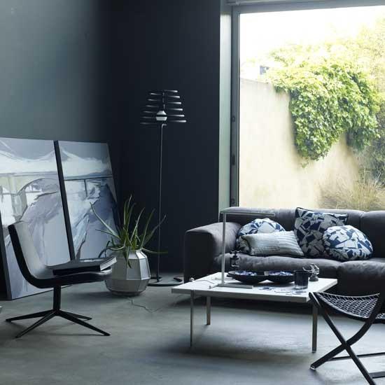 Dark Gray Bedrooms: Dark Grey Living Room