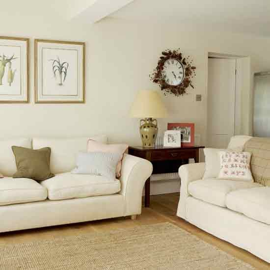 Decorating Ideas For Living Room With White Walls: Neutral Living Room