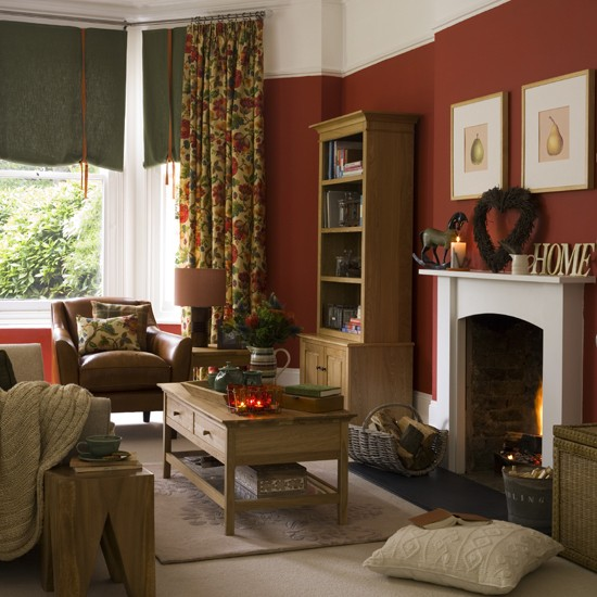 Warm And Cosy Country Living Room