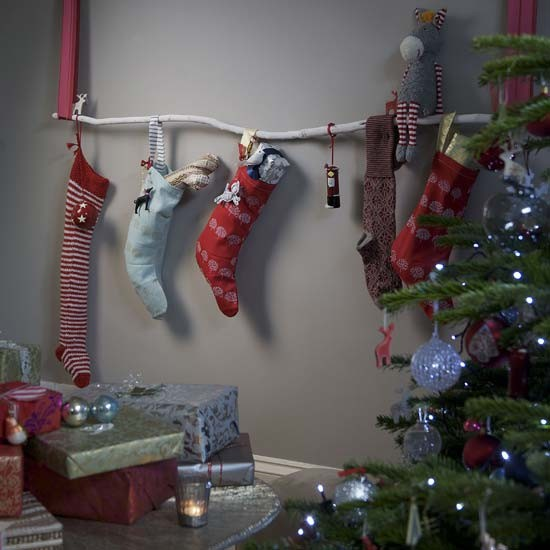 Small High Impact Decor Ideas: Hang Stockings Without A Fireplace
