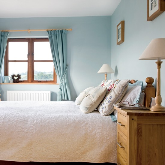 Pine Bedroom Sets Duck Egg Colour Bedroom Top 10 Bedroom Paint Colors Guest Bedroom Decorating Ideas: Blue Country-style Bedroom