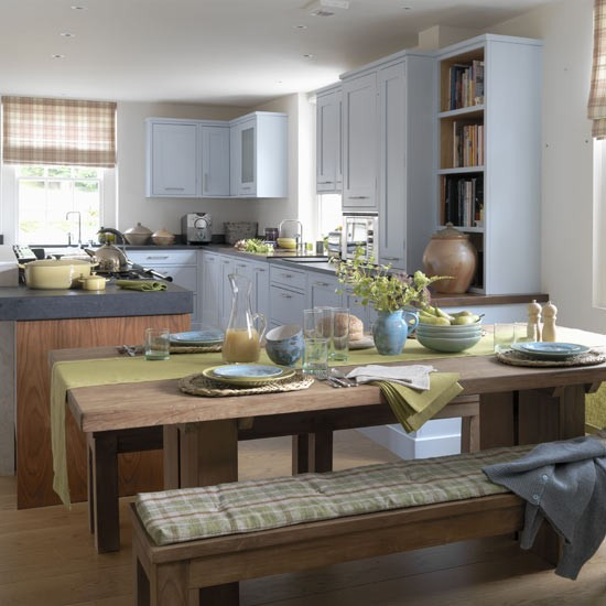 Blue Modern Country Kitchen Housetohome Co Uk