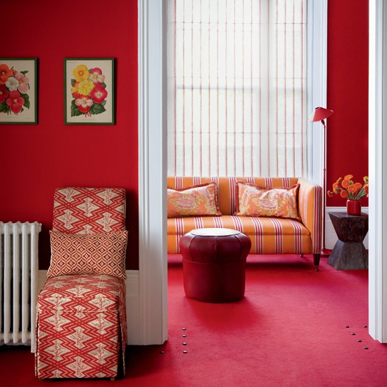 Red Living Room: Rich Red Living Room