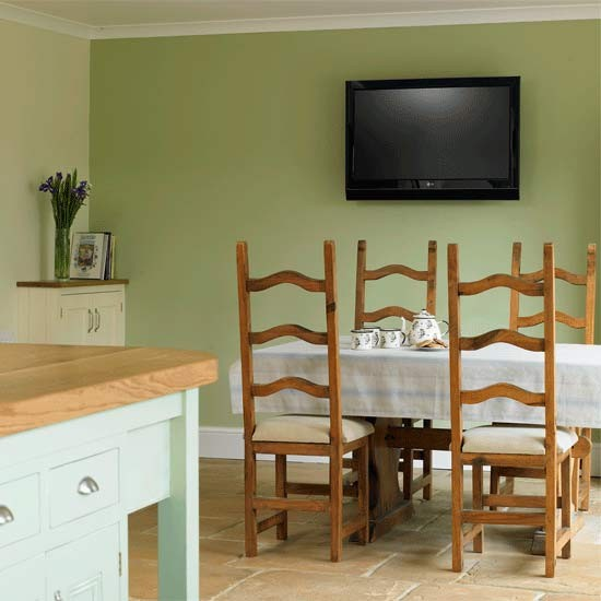 Practical Green Dining Area Dining Rooms Dining Room
