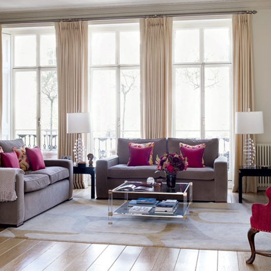 Hilary Farr Kitchen Designs: Flashes Of Pink Living Room