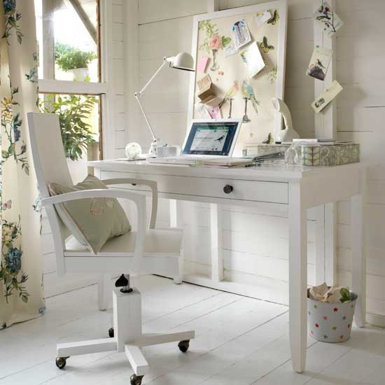 Home Office Decorating Ideas: Country-style Home Office