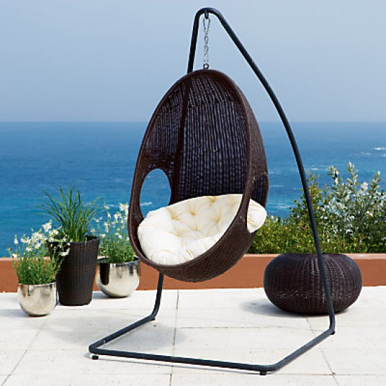 Pod Garden Table And Chair Set: Rattan Pod Hanging Garden Chair From John Lewis