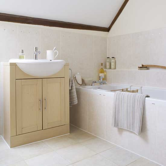 Attic Bathroom: Serene Attic Bathroom