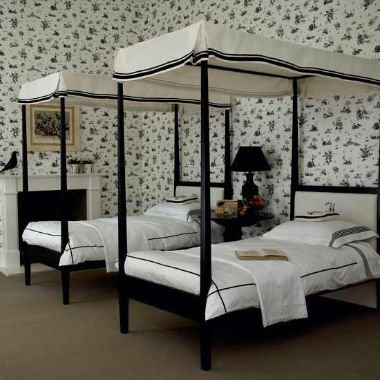 Twin Boys Room Ideas: Black And White Bedroom Ideas