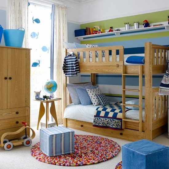 Little Boy Room Design Ideas: Colourful Boys' Bedroom With Bunks