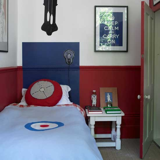 Blue And Red Bedroom Designs Bedroom Colours For Guys Sleigh Bed Bedroom Ideas Best Master Bedroom Colors: Classic Red And Blue Boys' Bedroom