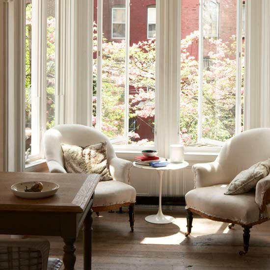 Calm reading corner living room design ideas image - Seating options for small living room ...