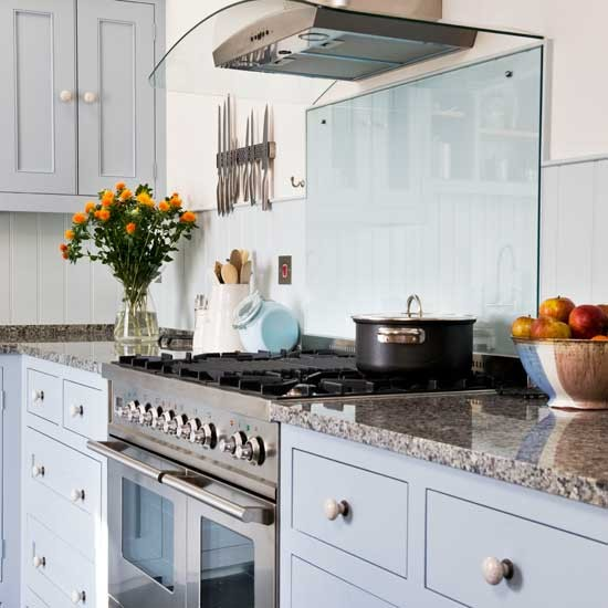 Pastel blue shaker kitchen shaker kitchens kitchen - Shaker kitchen designs photo gallery ...