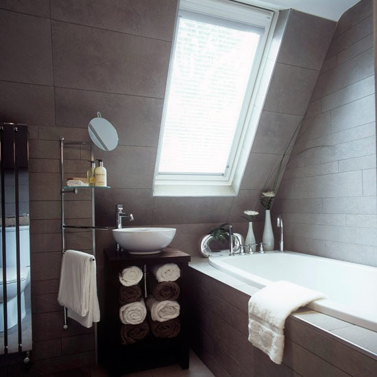 10 Amazing Ideas To Utilize The Space Under The Sink For Storage: Sanctuary Attic Bathroom