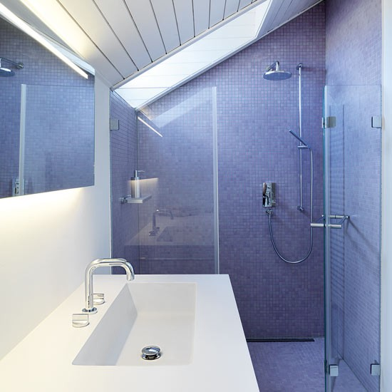 Introduce glamour to a small bathroom bathroom design - Bathroom shower designs small spaces ...